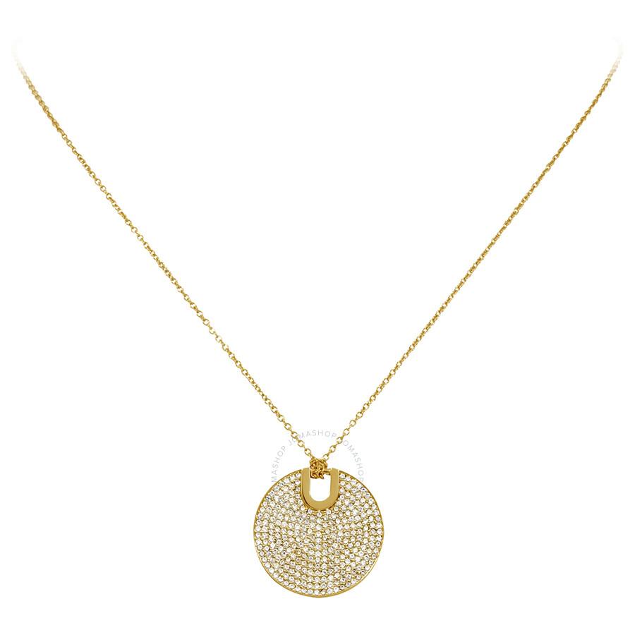 Michael Kors GoldTone Round Pendant Necklace MKJ4619710 Michael