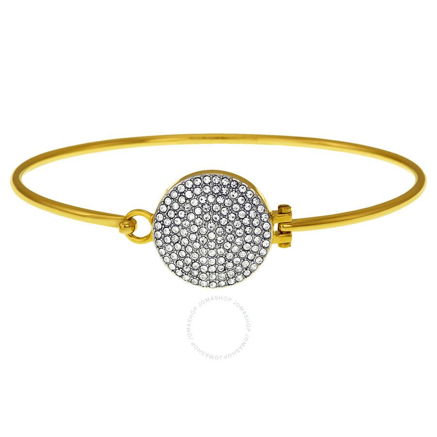 michael kors gold tone bangle bracelet with czech crystals. Black Bedroom Furniture Sets. Home Design Ideas