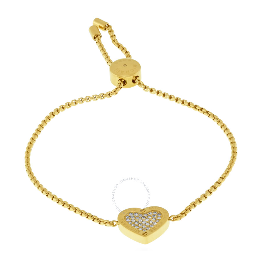 michael kors gold tone heart bracelet mkj4140710 michael kors ladies jewelry jewelry. Black Bedroom Furniture Sets. Home Design Ideas