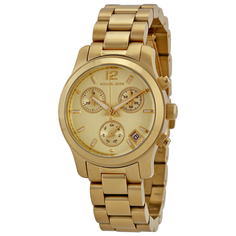 Michael Kors Gold tone Stainless Steel Chronograph Ladies Watch MK5384