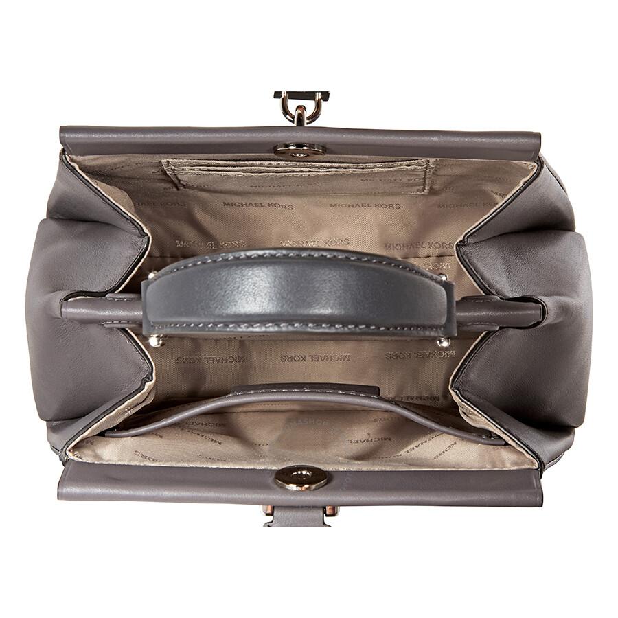 Michael Kors Gramercy Leather Satchel- Charcoal Multi - Michael Kors ... cc239ebd1a