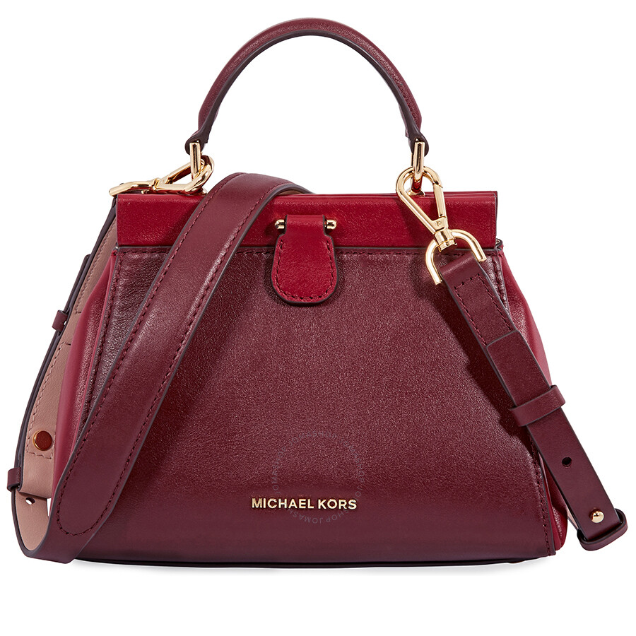 Michael Kors Gramercy Small Tri Color Leather Satchel