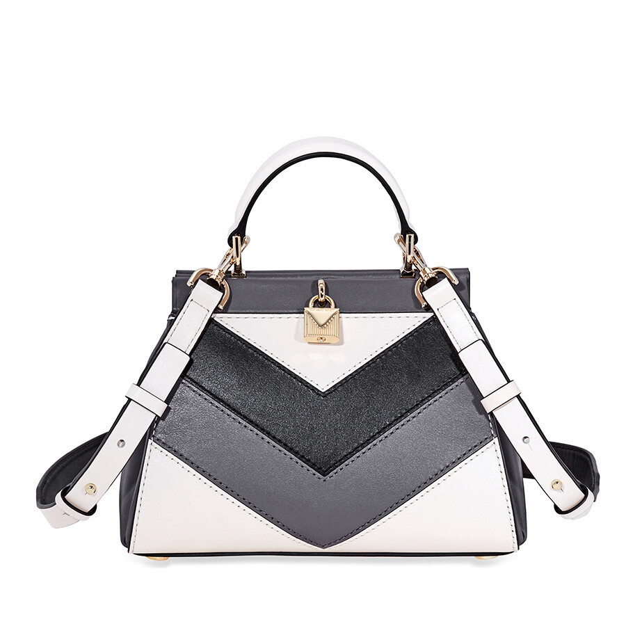 3264e1e627b1 Michael Kors Gramercy Small Tri-Color Leather Satchel Item No.  30F8TZ6S1O-278
