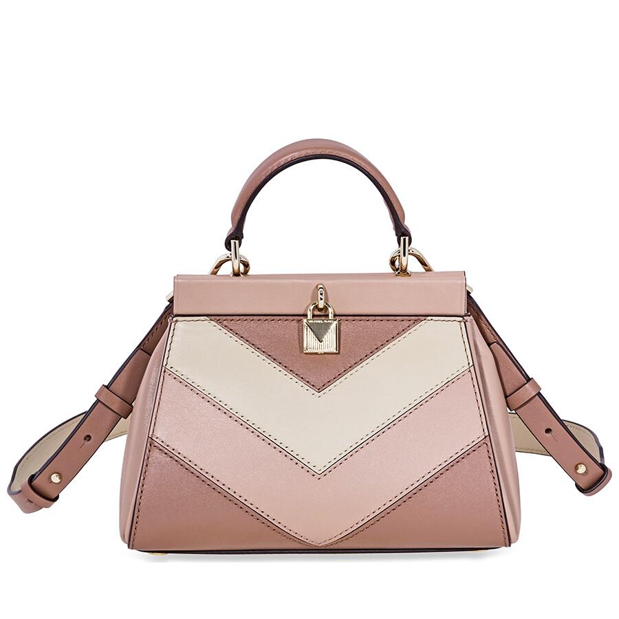 de84a95ee8ac Michael Kors Gramercy Small Tri-Color Leather Satchel Item No.  30F8TZ6S1O-964