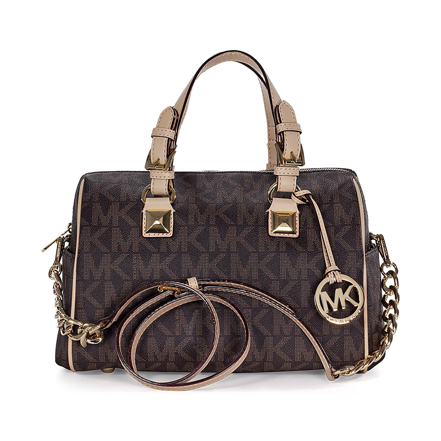 Michael kors grayson medium satchel rose gold