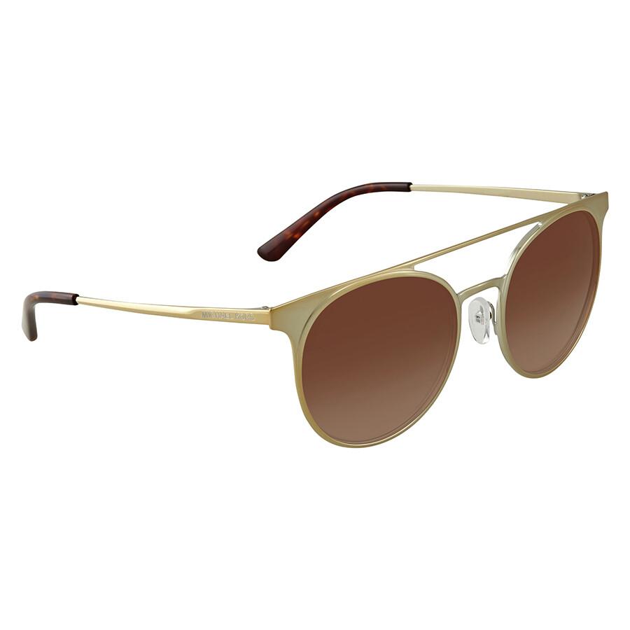 2771ce076cf Michael Kors Grayton Dark Brown Gradient Round Ladies Sunglasses 0MK1030  116813 52 ...