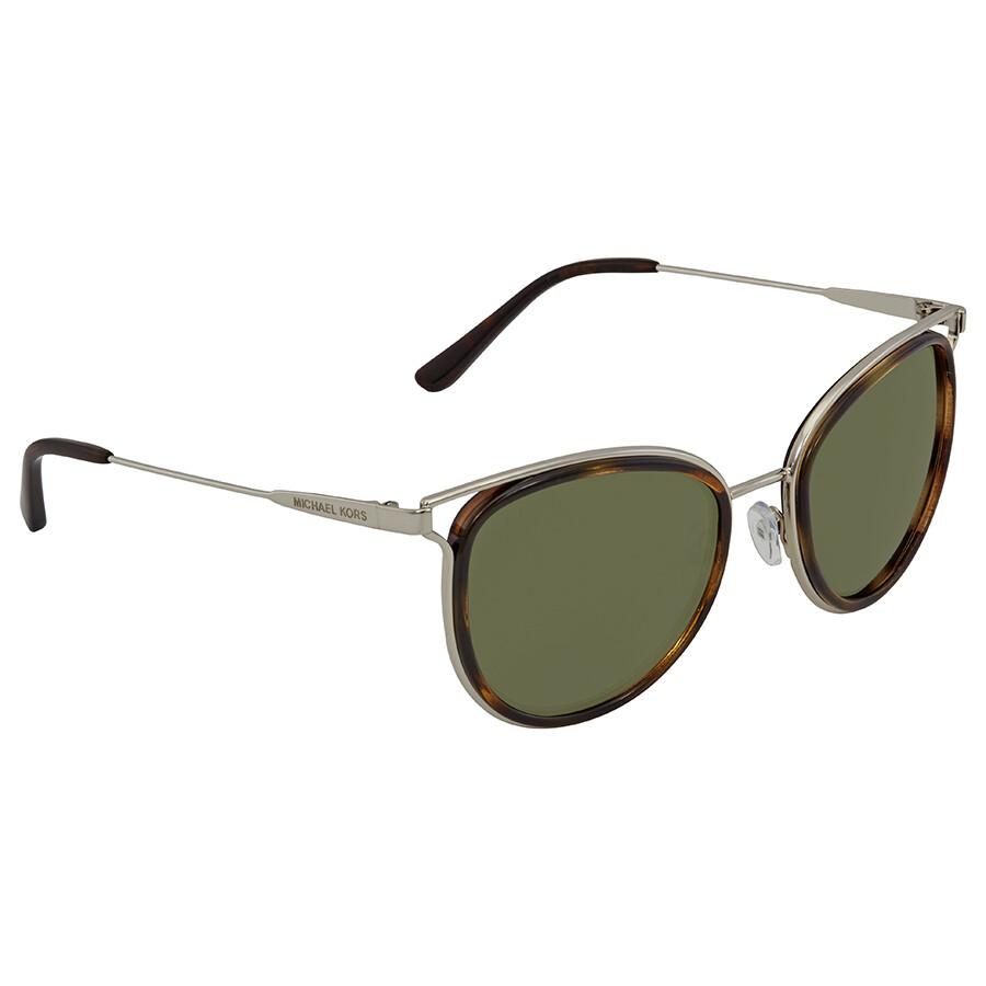 daaeade6f1 Michael Kors Green Round Sunglasses MK1025 120071 52 ...