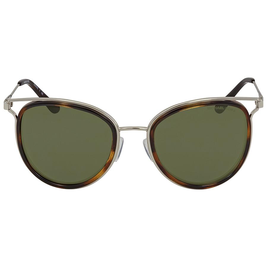 31f7a278e1 ... Michael Kors Green Round Sunglasses MK1025 120071 52 ...