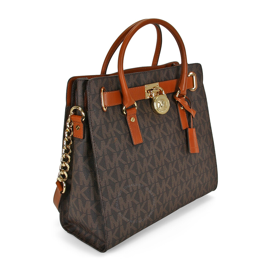 c3913f5f6e36d1 Michael Kors Hamilton Large Logo Tote in Brown - Hamilton - Michael ...