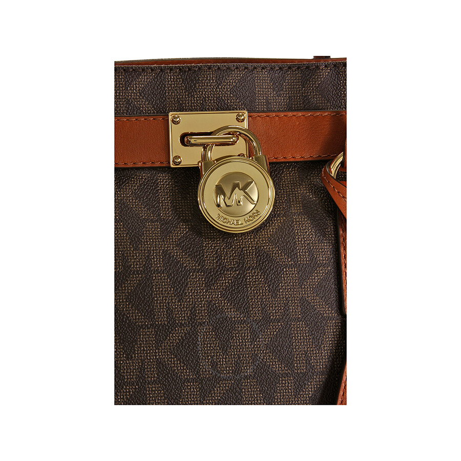 f591be85df9b Michael Kors Hamilton Large Logo Tote in Brown - Hamilton - Michael ...