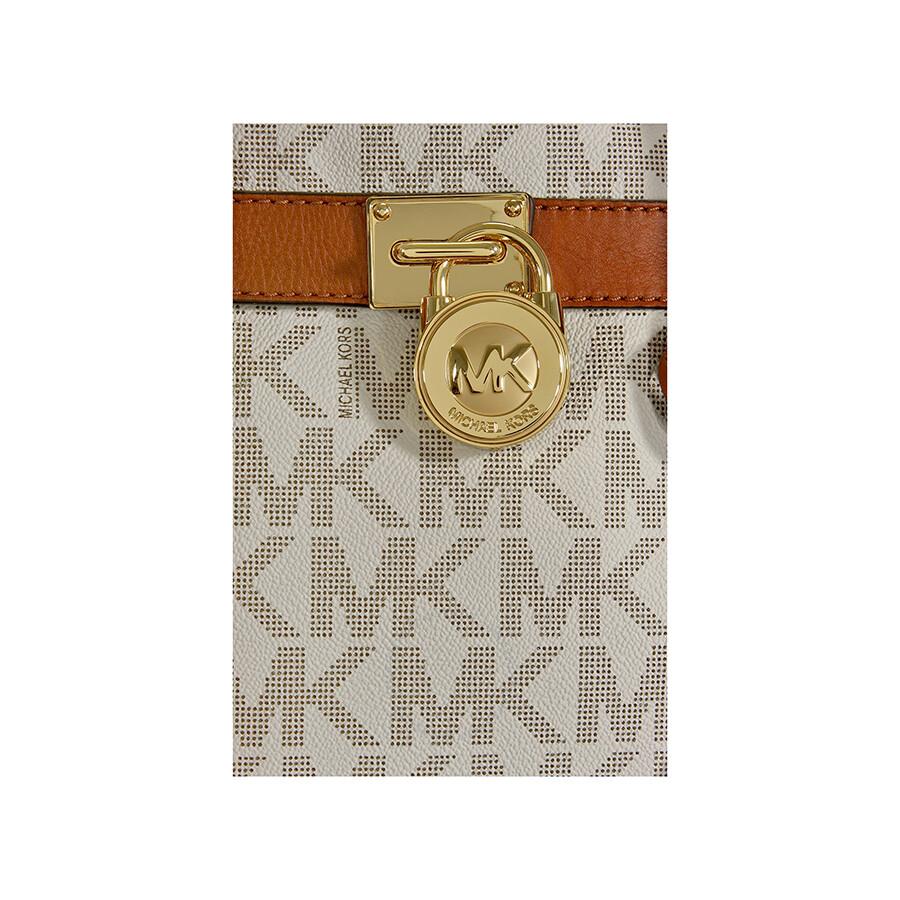 0803c6edbe0990 Michael Kors Hamilton Large Logo Tote in Vanilla - Hamilton ...
