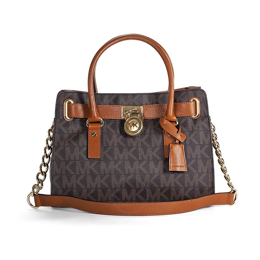 michael kors hamilton logo pvc satchel in brown hamilton michael kors handbags handbags. Black Bedroom Furniture Sets. Home Design Ideas