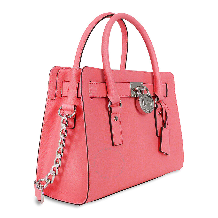e599f22c02 Michael Kors Hamilton Saffiano Leather Medium Satchel - Coral Item No.  30S3SHMS3L-802