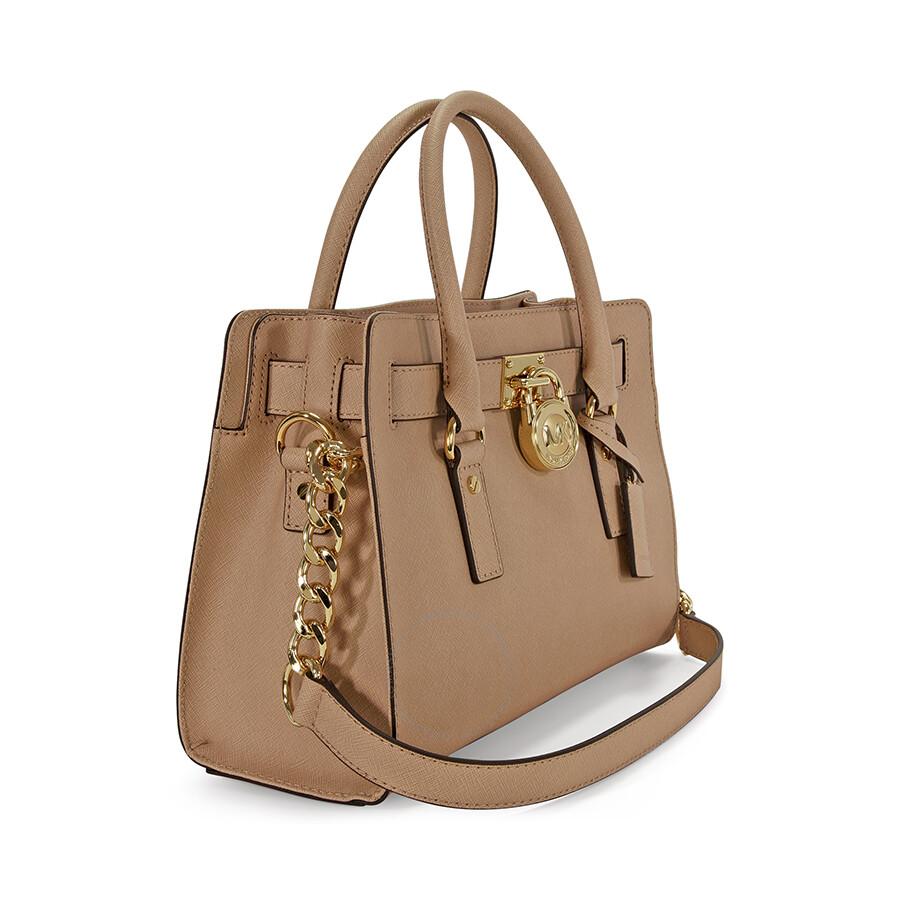 michael kors hamilton saffiano leather medium satchel in blush hamilton michael kors. Black Bedroom Furniture Sets. Home Design Ideas