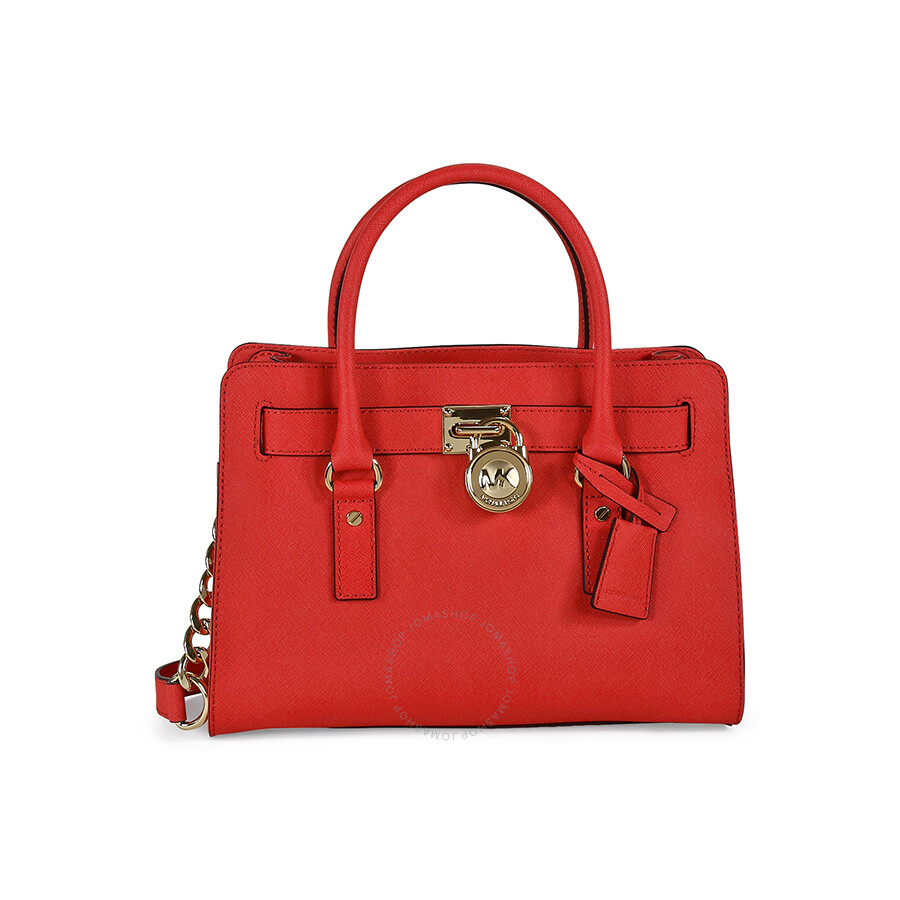 d75ace9e3061 Michael Kors Hamilton Saffiano Leather Satchel Handbag - Watermelon Item  No. 30S2GHMS3L-596
