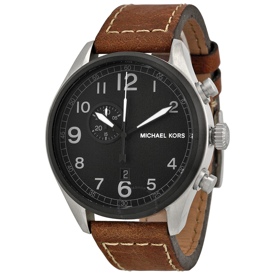 michael kors hanger black brown leather s
