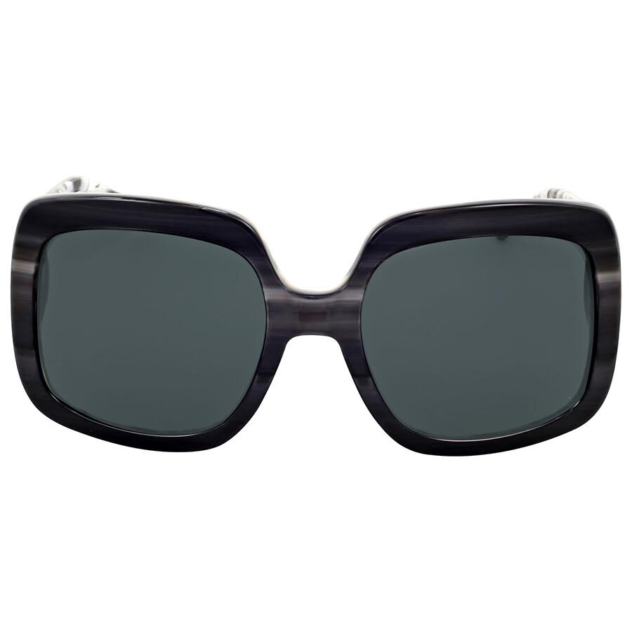 de86805fecff Michael Kors Harbor Mist Black Horn Square Sunglasses Item No.  MK2036-321187-55