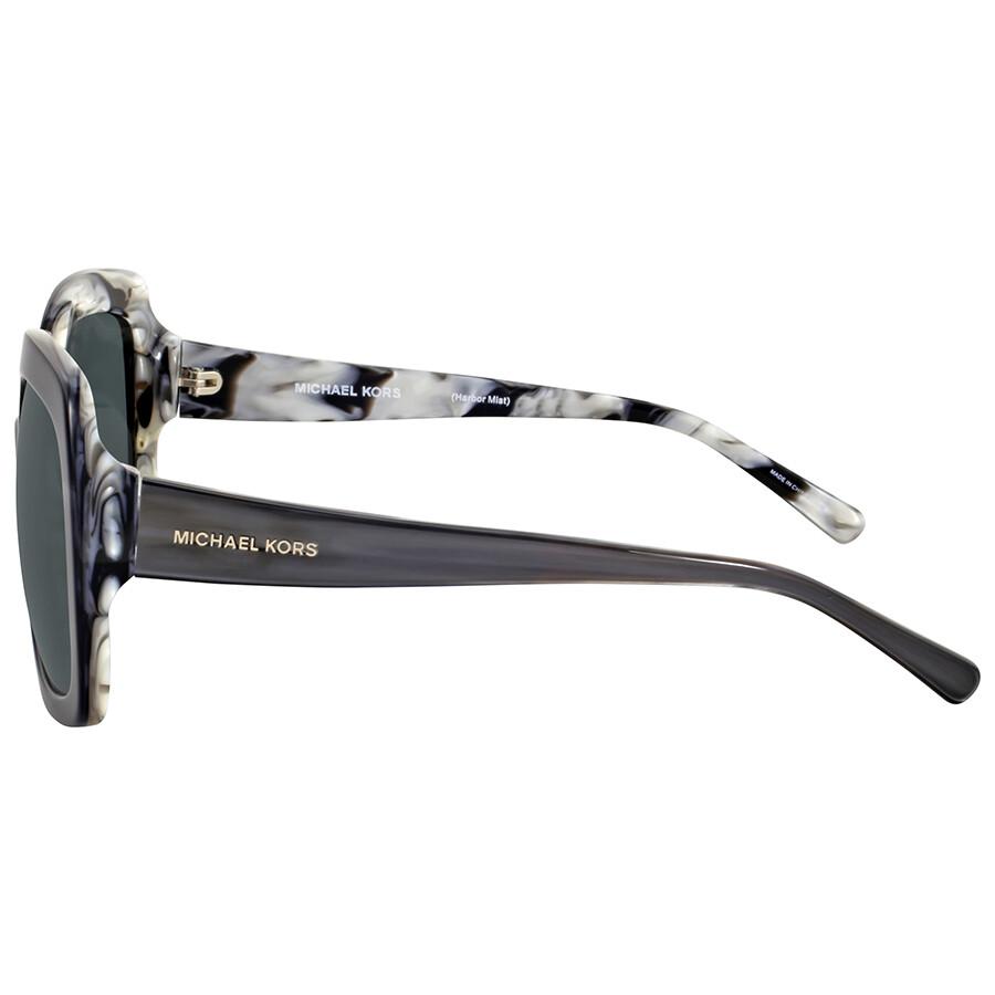 fa03fc095c7d Michael Kors Harbor Mist Black Horn Square Sunglasses - Michael Kors ...