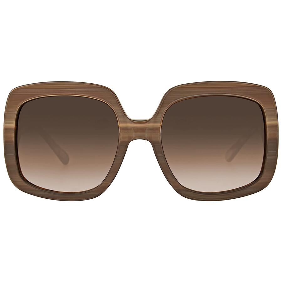 88900dc881ac Michael Kors Harbor Mist Brown Smoke Gradient Square Sunglasses Item No.  MK2036-321213-55