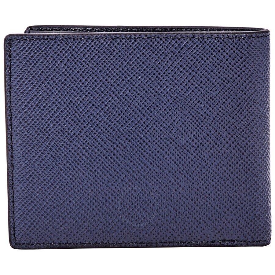 18f656b25c21 Michael Kors Harrison Men's Leather Billfold Wallet- Navy - Michael ...