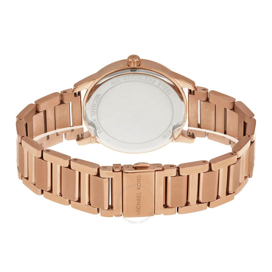 05cbbf6b5254 ... Michael Kors Hartman Rose Gold-Tone Stainless Steel Ladies Watch MK3491