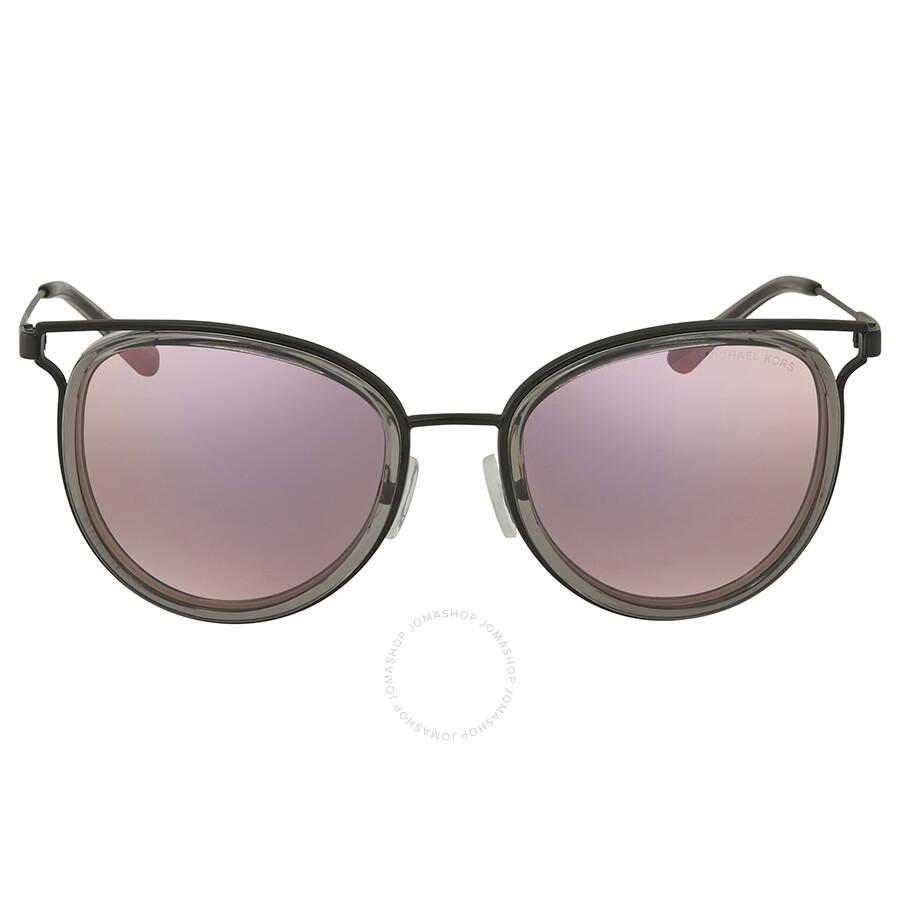 49c7fcc86e ... Michael Kors Havana Round Ladies Sunglasses MK1025 12025R 52 ...