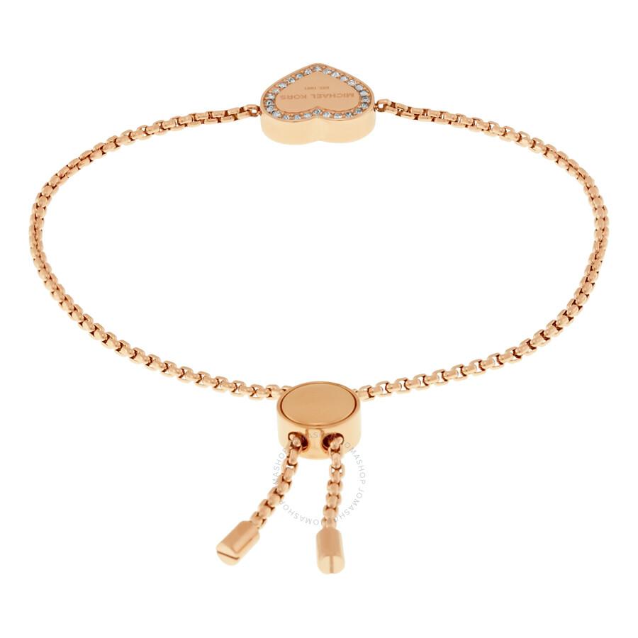 81880e02d927e Michael Kors Heart Charm Rose Gold-Tone Bracelet MKJ5391791 ...