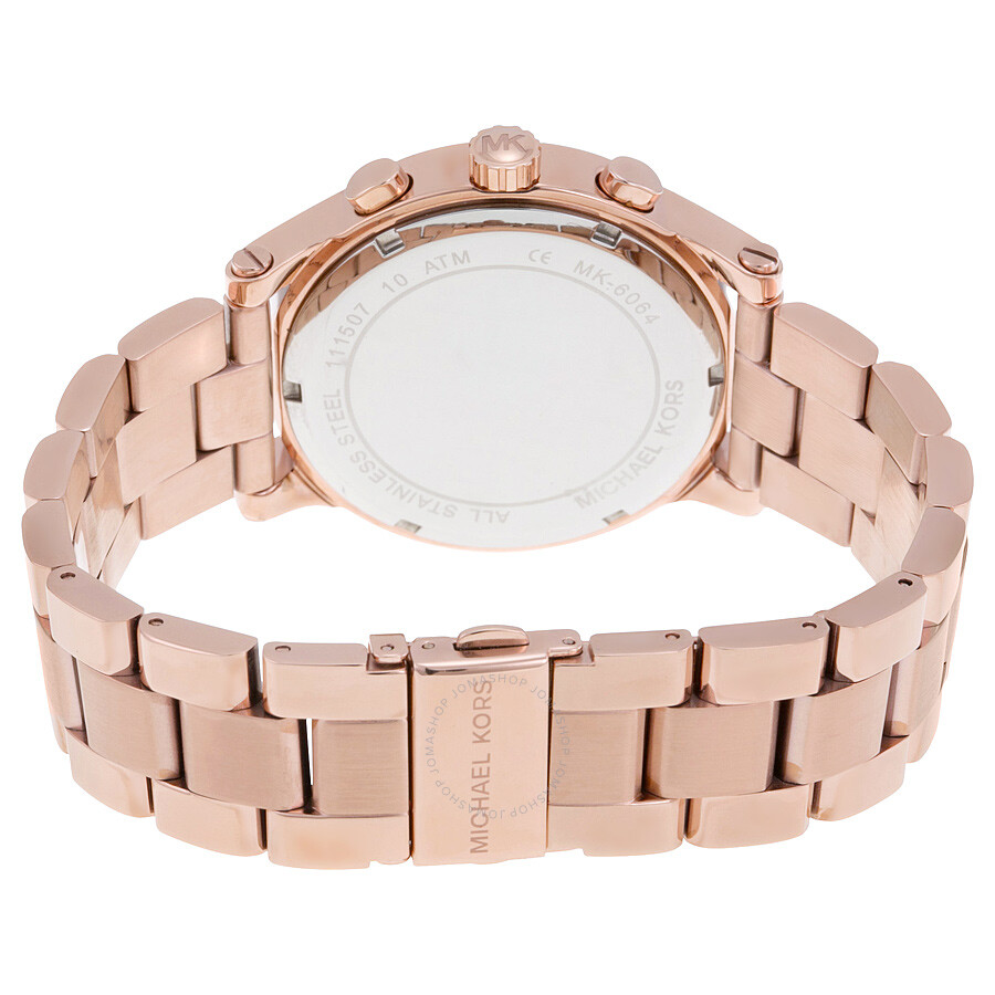 michael kors heidi rose crystal dial rose gold tone ladies watch mk6064 michael kors watches. Black Bedroom Furniture Sets. Home Design Ideas