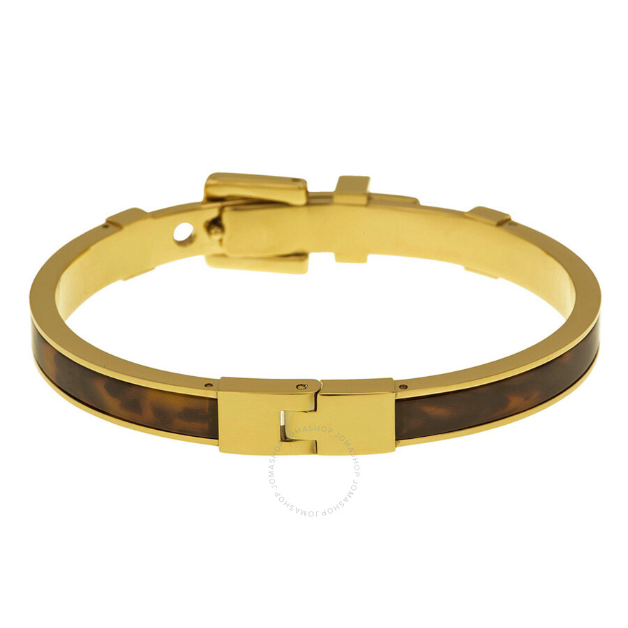 michael kors with bracelet michael kors heritage tortoiseshell buckle bangle bracelet 6543