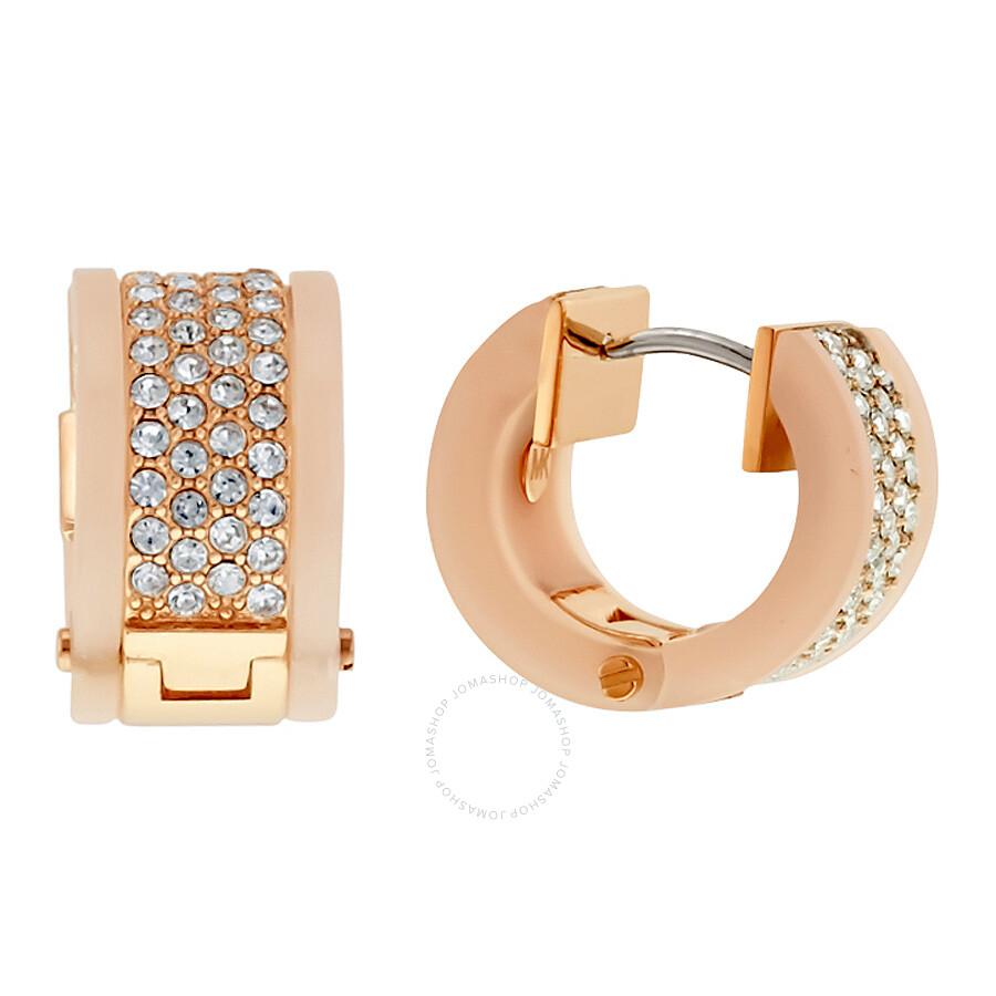43fc6386161c ... Michael Kors Huggie Blush and Rose Gold-Tone Hoop Earrings MKJ5094791