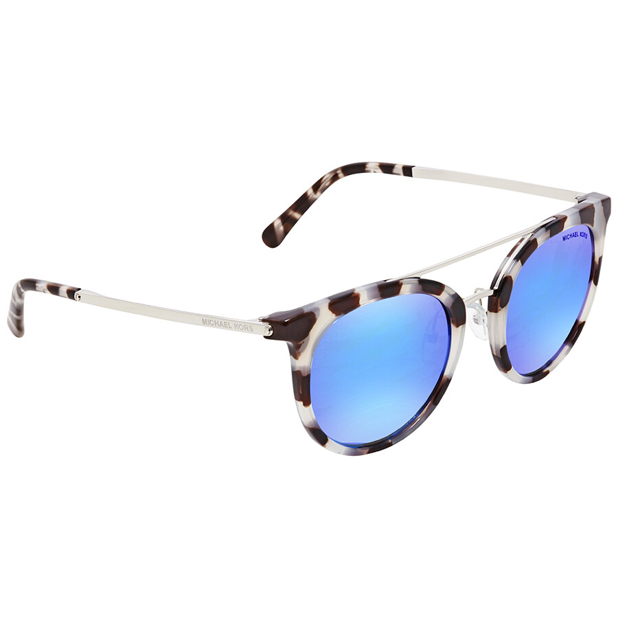 9709e163d42a Michael Kors Ila Cobalt Mirror Round Ladies Sunglasses MK2056-327525-50 ...