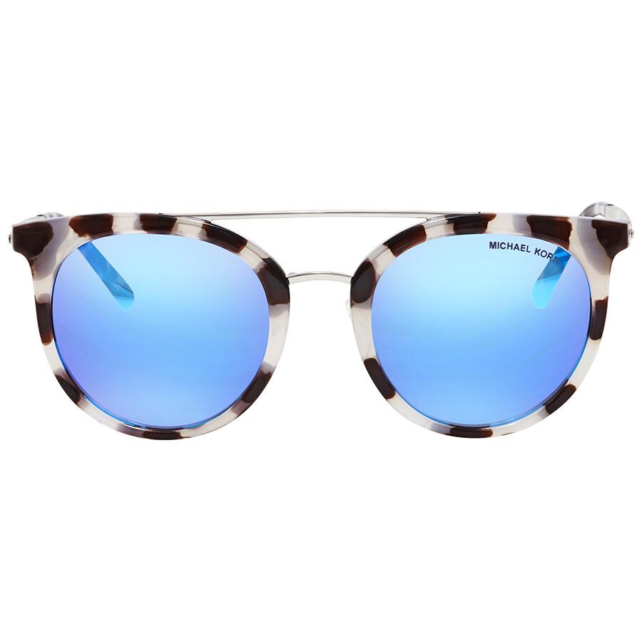2c3e6d30d6 ... Michael Kors Ila Cobalt Mirror Round Ladies Sunglasses MK2056-327525-50  ...