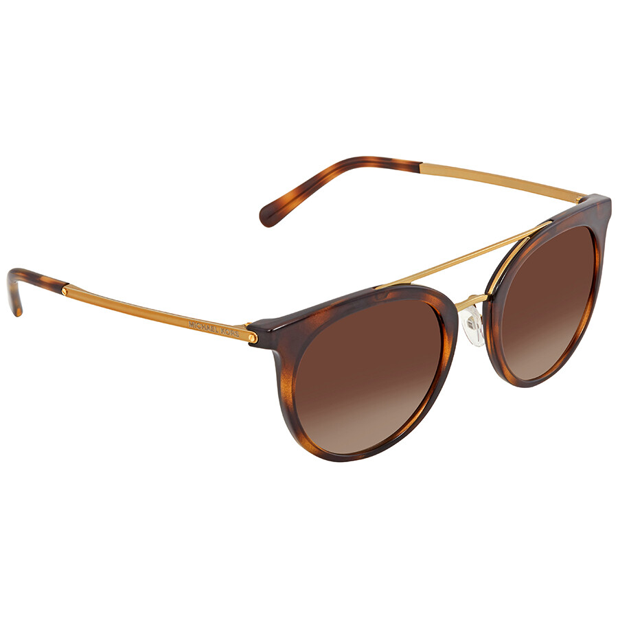 1cfb06b5cd Michael Kors Ila Smoke Gradient Round Ladies Sunglasses MK2056-327013-50 ...