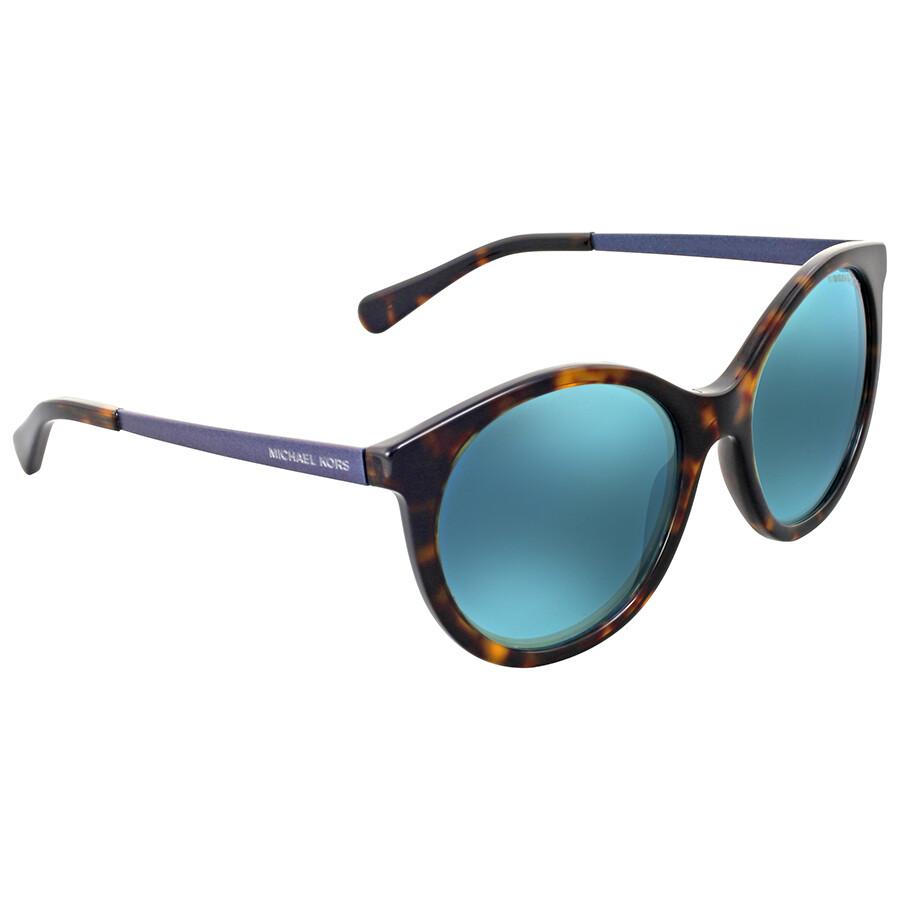 b6c3b9c23f Michael Kors Island Tropics Teal Mirror Sunglasses Item No. MK2034-320225-55