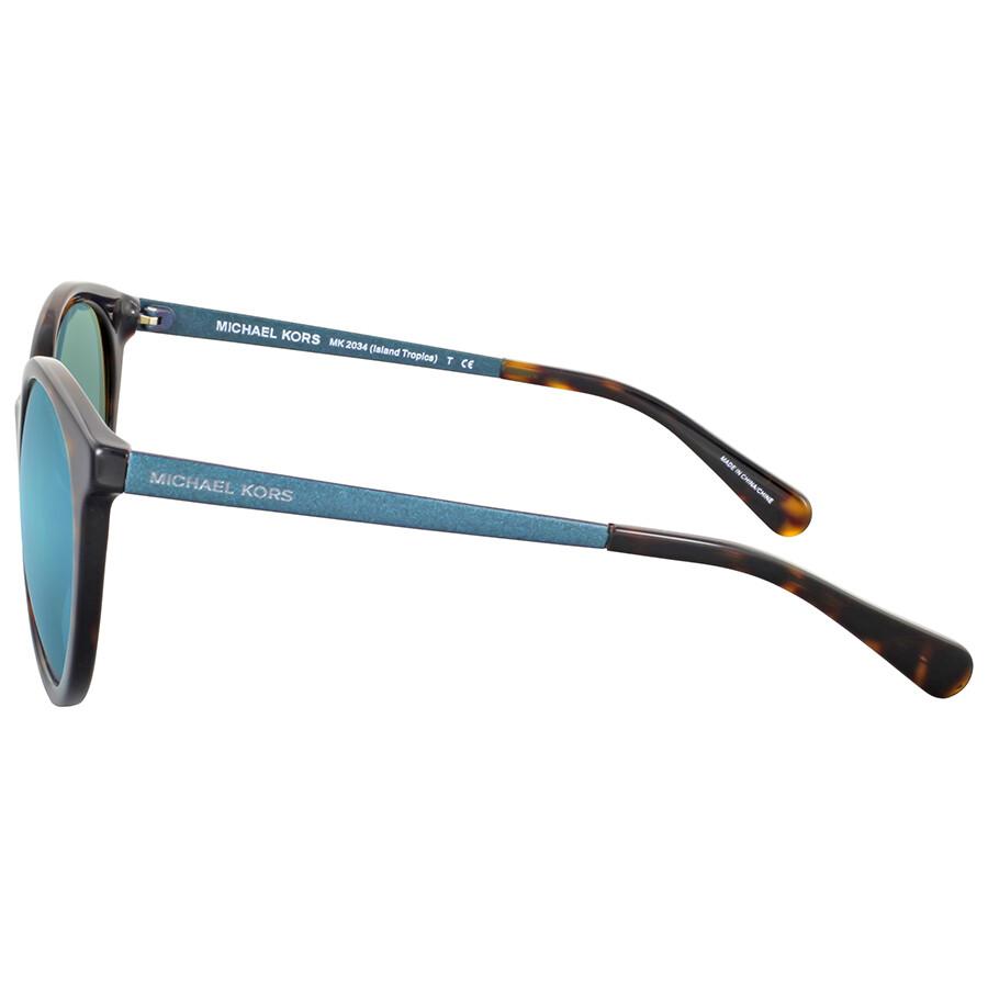 879b967260fe3 Michael Kors Island Tropics Teal Mirror Sunglasses - Michael Kors ...