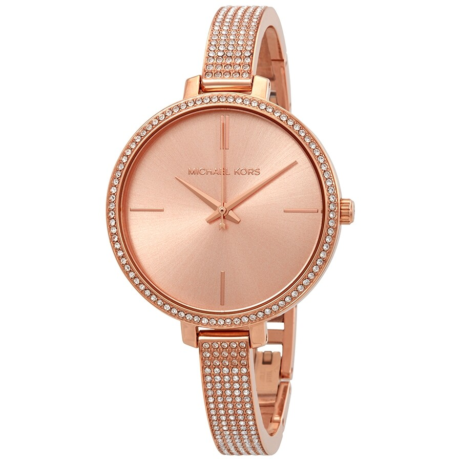Michael Kors Jaryn Crystal Rose Gold Dial Ladies Watch Mk3785