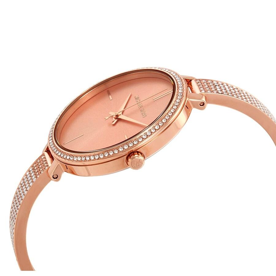 146d0032fe7b ... Michael Kors Jaryn Crystal Rose Gold Dial Ladies Watch MK3785 ...