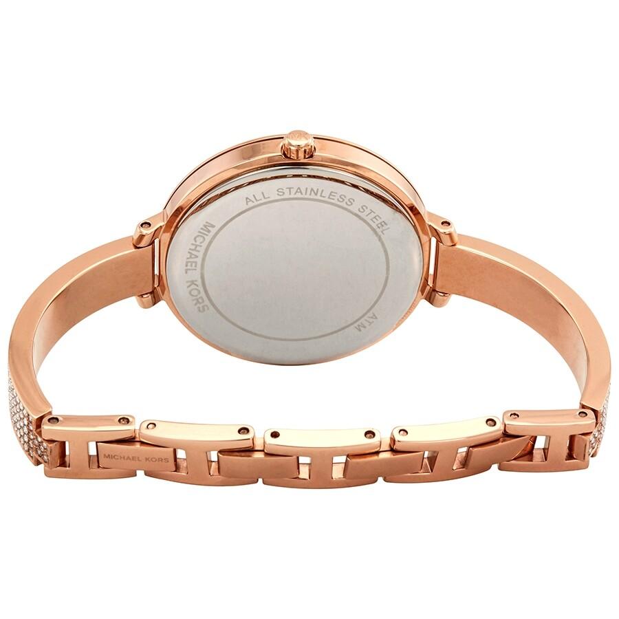 d6b39ac48b38 Michael Kors Jaryn Crystal Rose Gold Dial Ladies Watch MK3785 ...