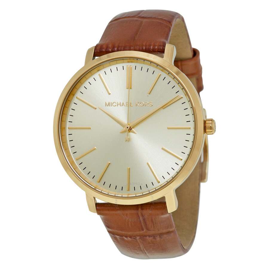 Michael kors jaryn gold tone dial ladies dress watch mk2496 jaryn michael kors watches for Watches michael kors