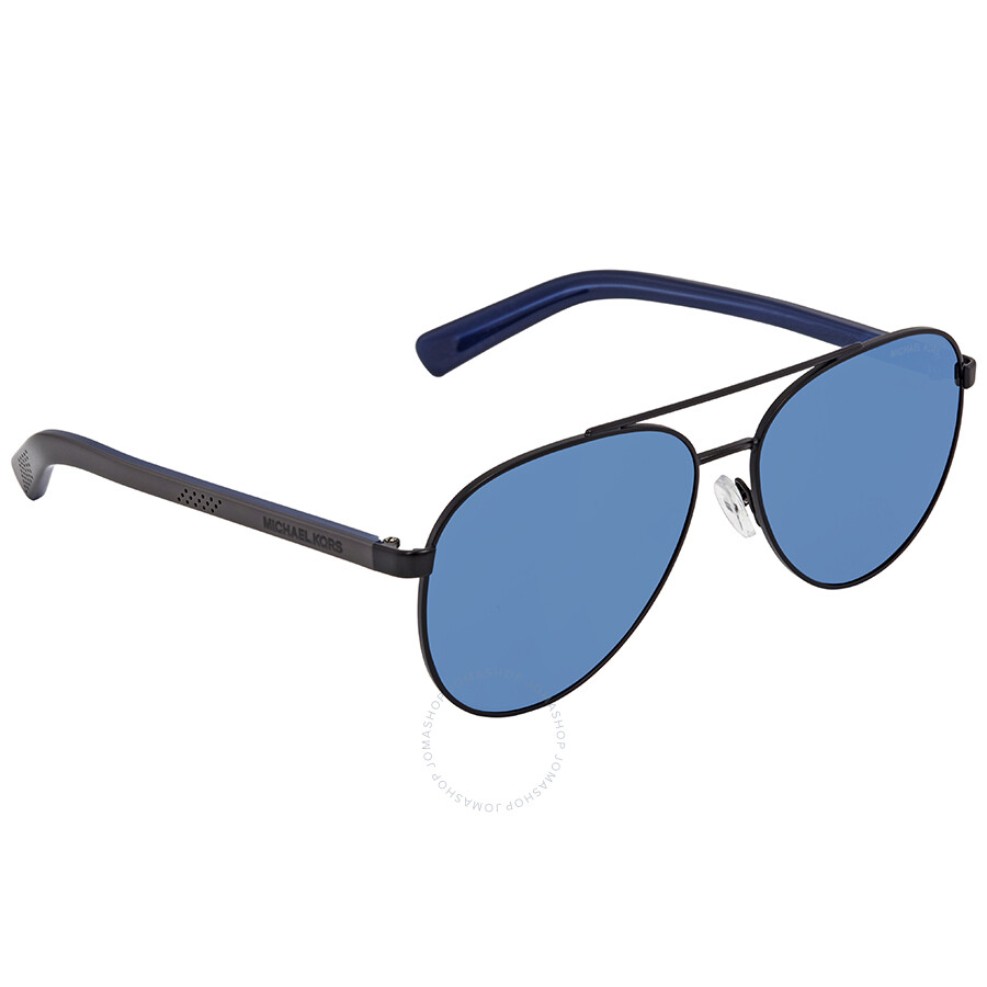 8d32cafb63e Michael Kors Jax Blue Aviator Sunglasses MK1028 120555 58 - Michael ...