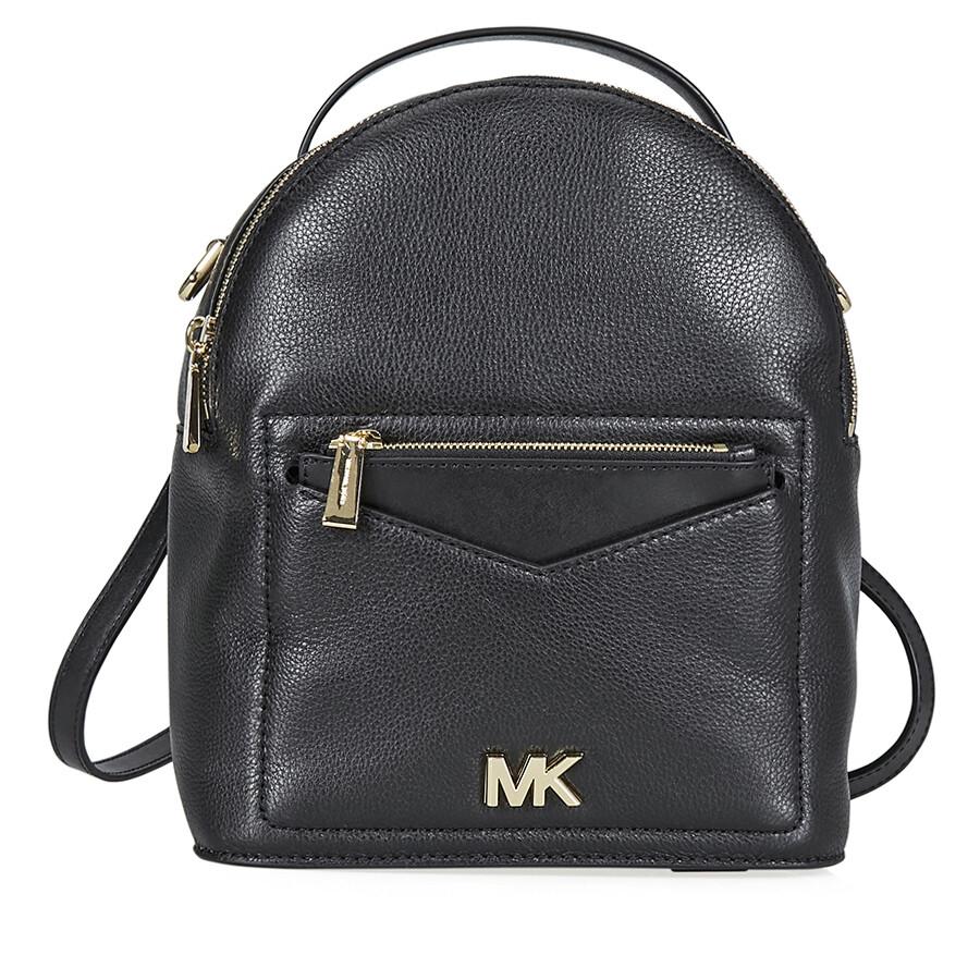 cda342ae096fc3 Michael Kors Jessa Small Convertible Backpack- Black Item No. 30T8GEVB5L-001