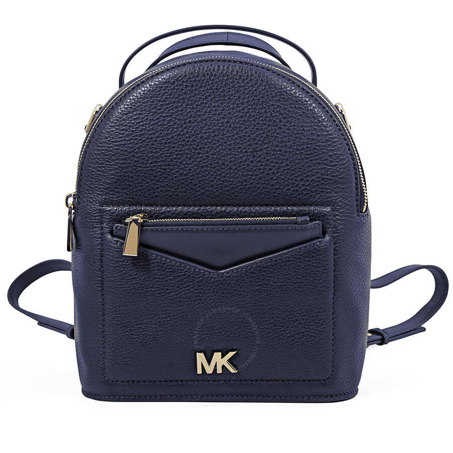 0b6f04e32839 Michael Kors Jessa Small Pebbled Leather Convertible Backpack- Admiral Item  No. 30T8GEVB5L-414
