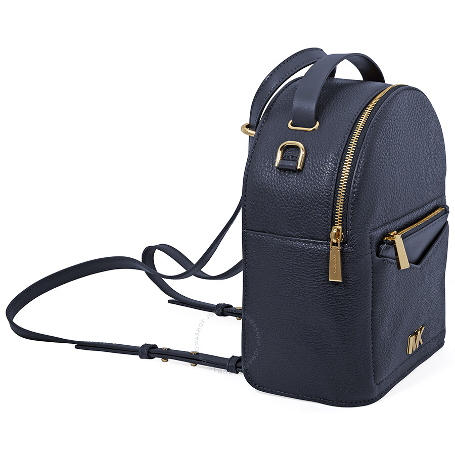 fa52e56a05d5 Michael Kors Jessa Small Pebbled Leather Convertible Backpack- Admiral