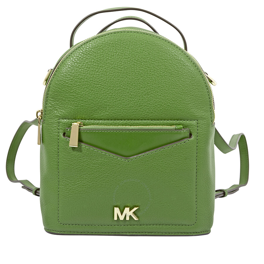 Michael Kors Jessa Small Pebbled Leather Convertible Backpack True Green
