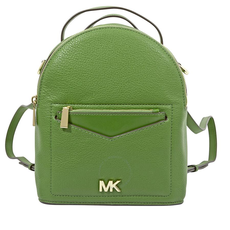 9b01691e09ea30 Michael Kors Jessa Small Pebbled Leather Convertible Backpack- True Green  Item No. 30T8GEVB5L-304