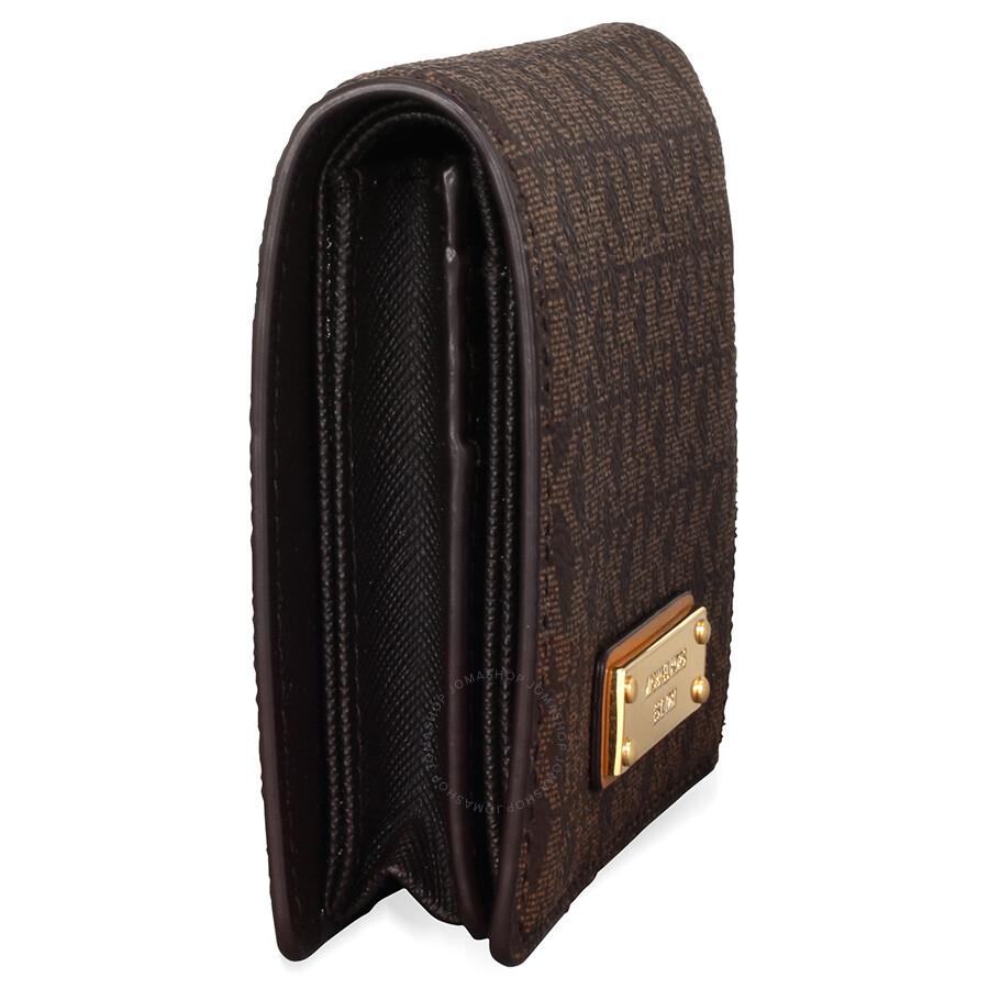 926140ad699227 Michael Kors Jet Set Card Holder- Brown - Jet Set - Michael Kors ...
