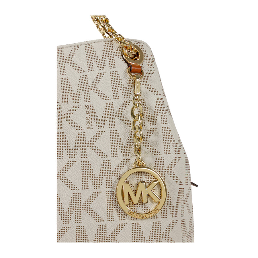 michael kors jet set chain large shoulder tote vanilla rh jomashop com