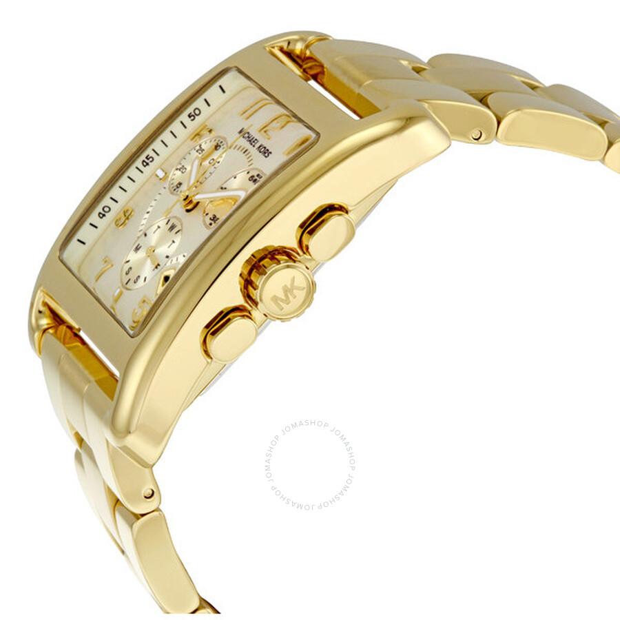 baccad9f515e Michael Kors Jet Set Chronograph Gold-tone Ladies Watch MK5436 - Jet ...