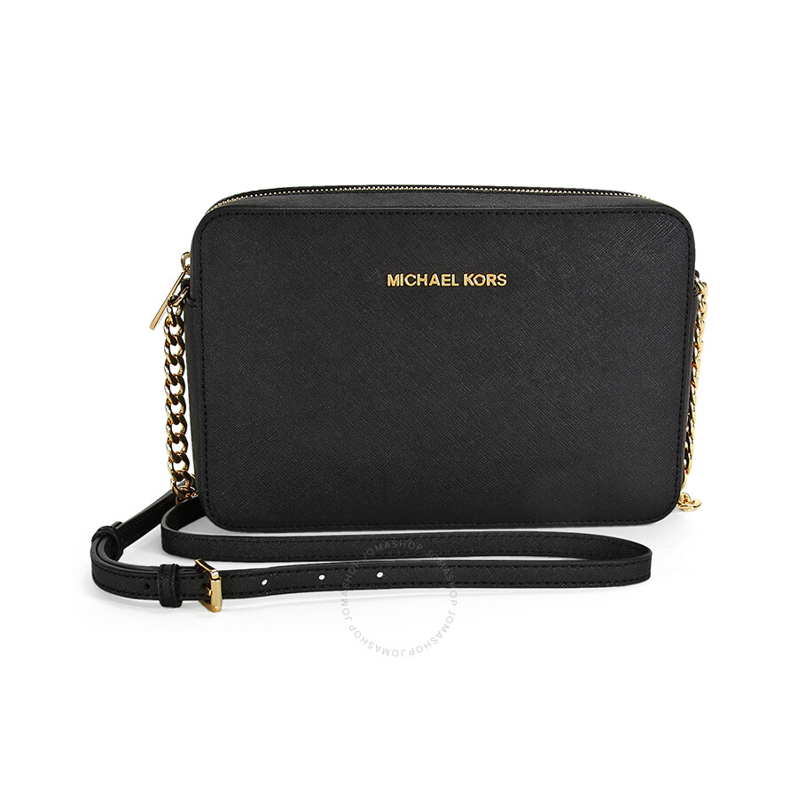 michael kors jet set crossbody bag large crossbody black jet set rh jomashop com