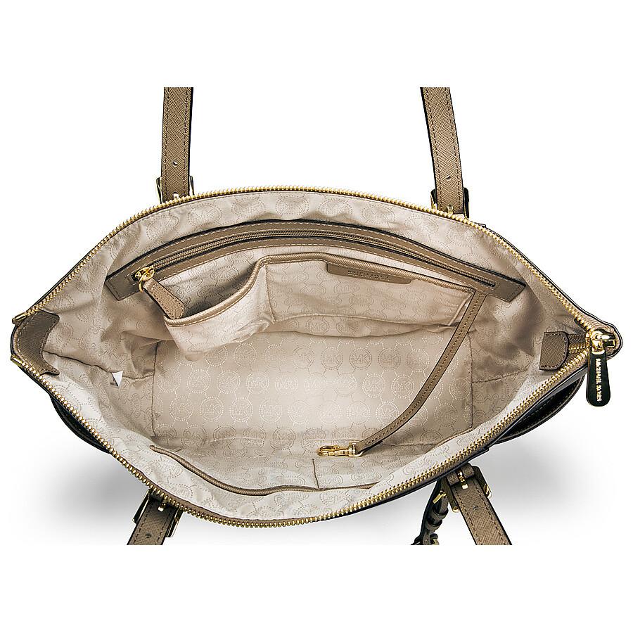 Michael Kors Jet Set East West Top Zip Dune Leather Tote Handbag